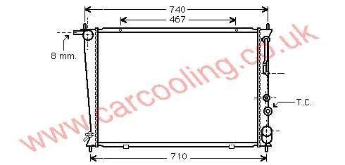 Radiator Hyundai H100 25310-4A150