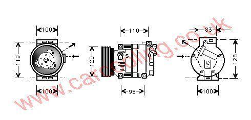 Compressor Alfa 146 II    60659643