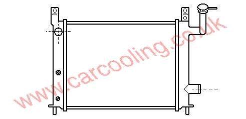 Radiator Nissan Sunny III    21410-50A20