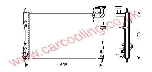 Radiator MCC Smart Forfour    MN135879