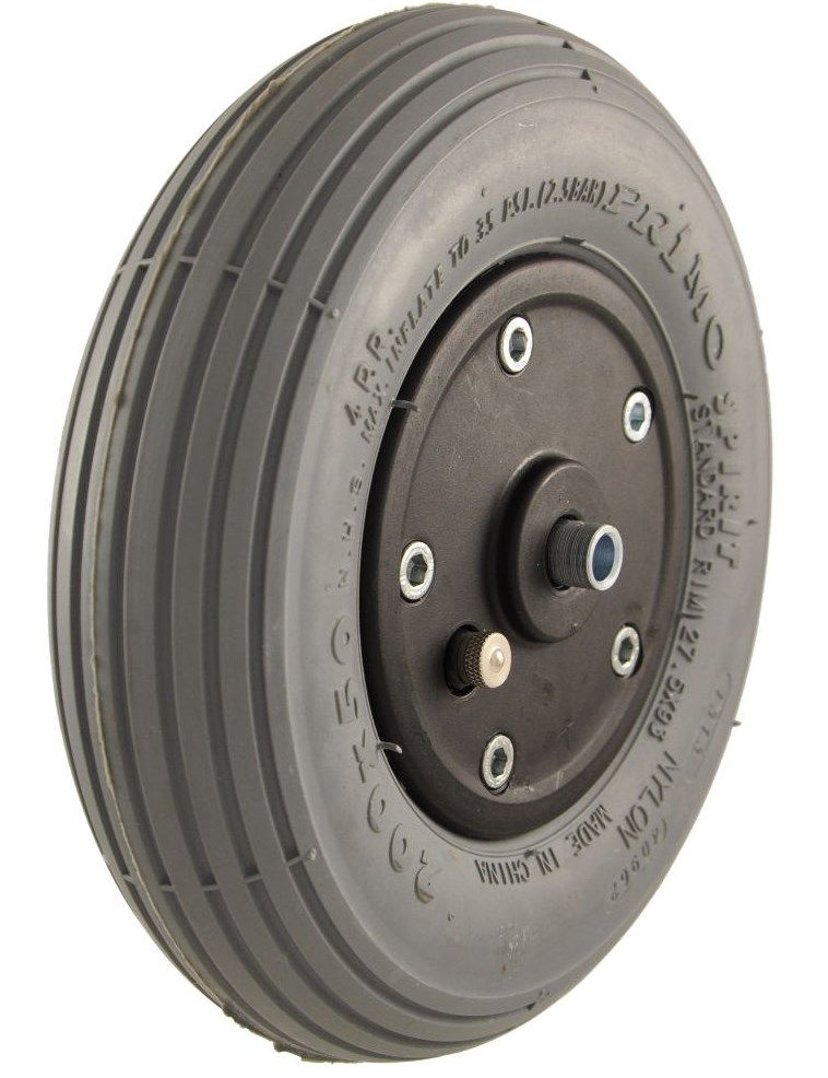 "8"" x 2"" (200mm x 50mm) Castor Wheel with Tyre & Tube"