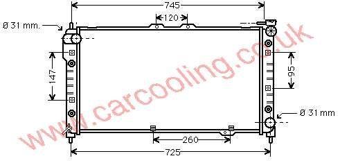 Radiator Mazda 323 IV    BPM9-15-200 B