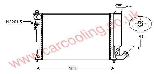 Radiator Citroen ZX    92050670