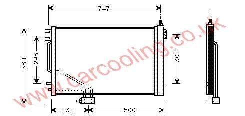Condenser Merc. W203 C-Class    203.500.0954 / 1254