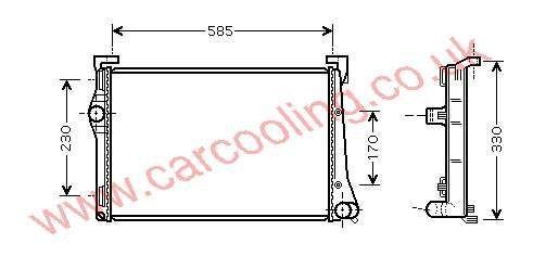 Radiator Lancia Musa    51708005