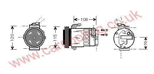 Compressor Vauxhall Astra Mk 4    1854088
