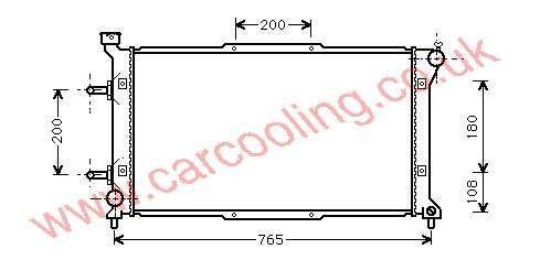Radiator Subaru Legacy II 45199-AC070 / 071