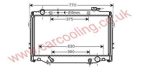Radiator Toyota Landcruiser III 16400-66100 / 66101