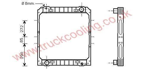 Radiator Iveco Eurocargo    98425703