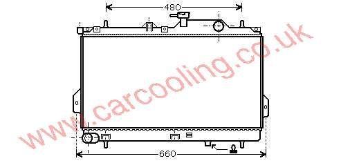 Radiator Hyundai Matrix 25310-17800