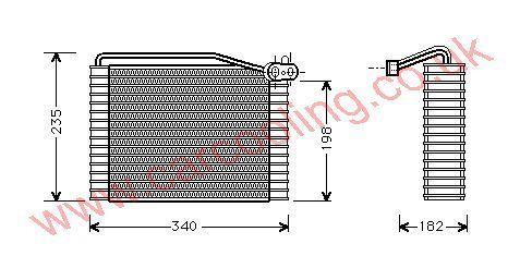 Evaporator Skoda Superb    8D2820103A