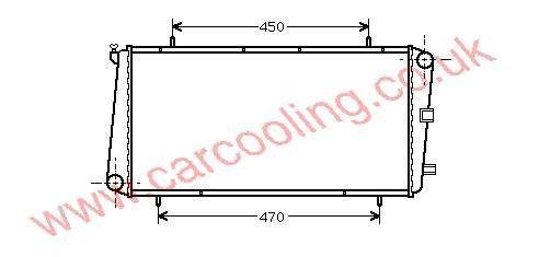 Radiator MG F    GRD927 / PCC105470