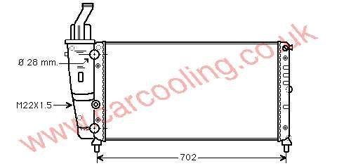 Radiator Lancia Y ( Ypsilon )    46527489