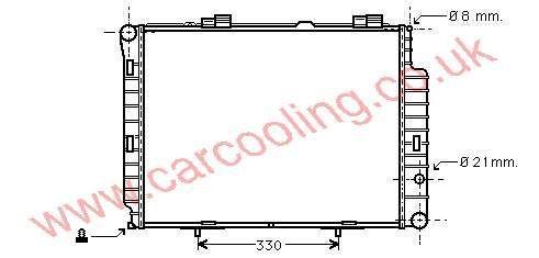 Radiator Merc. W210 E-Class    210.500.0803