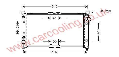 Radiator Xedos 9    KL47-15-200 A