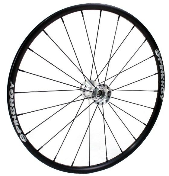 "25"" Spinergy SLX Wheel - Black Rim, Silver Hub, 24 Spokes"