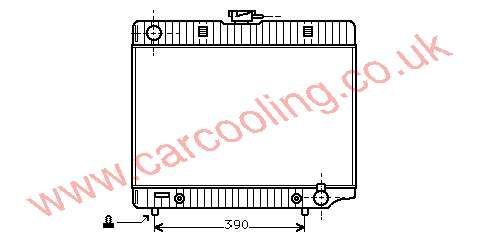 Radiator Merc. W123 Saloon    123.501.4401