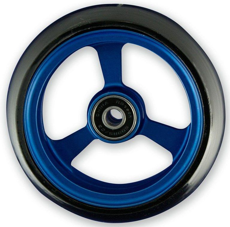 Frog Legs Castor - 5 x 1 1/4 Blue Aluminium Hub with Black Tyre LT5SBBB