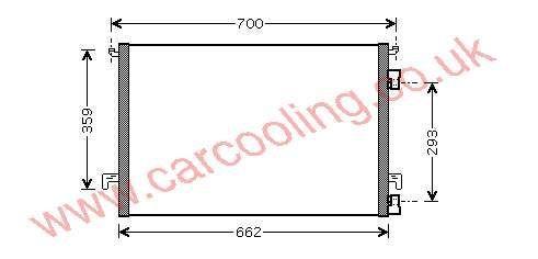 Condenser Opel Signum    1850095 - 13114943