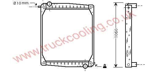 Radiator Scania 90 Series    7517001 / 1365371