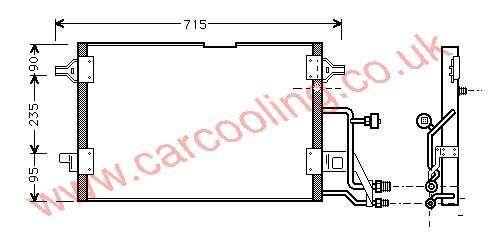 Condenser Audi A4 8D0.260.403 C