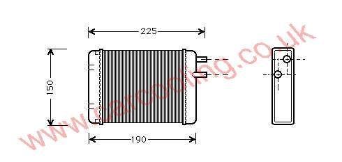 Heater Matrix Austin Mini LHT 5009