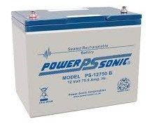 12V 75Ah Power-Sonic Sealed Lead Acid (AGM) Mobility Scooter Battery