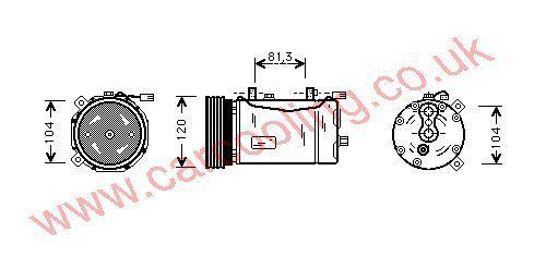 Compressor VW Caddy II    95NW19D629CB