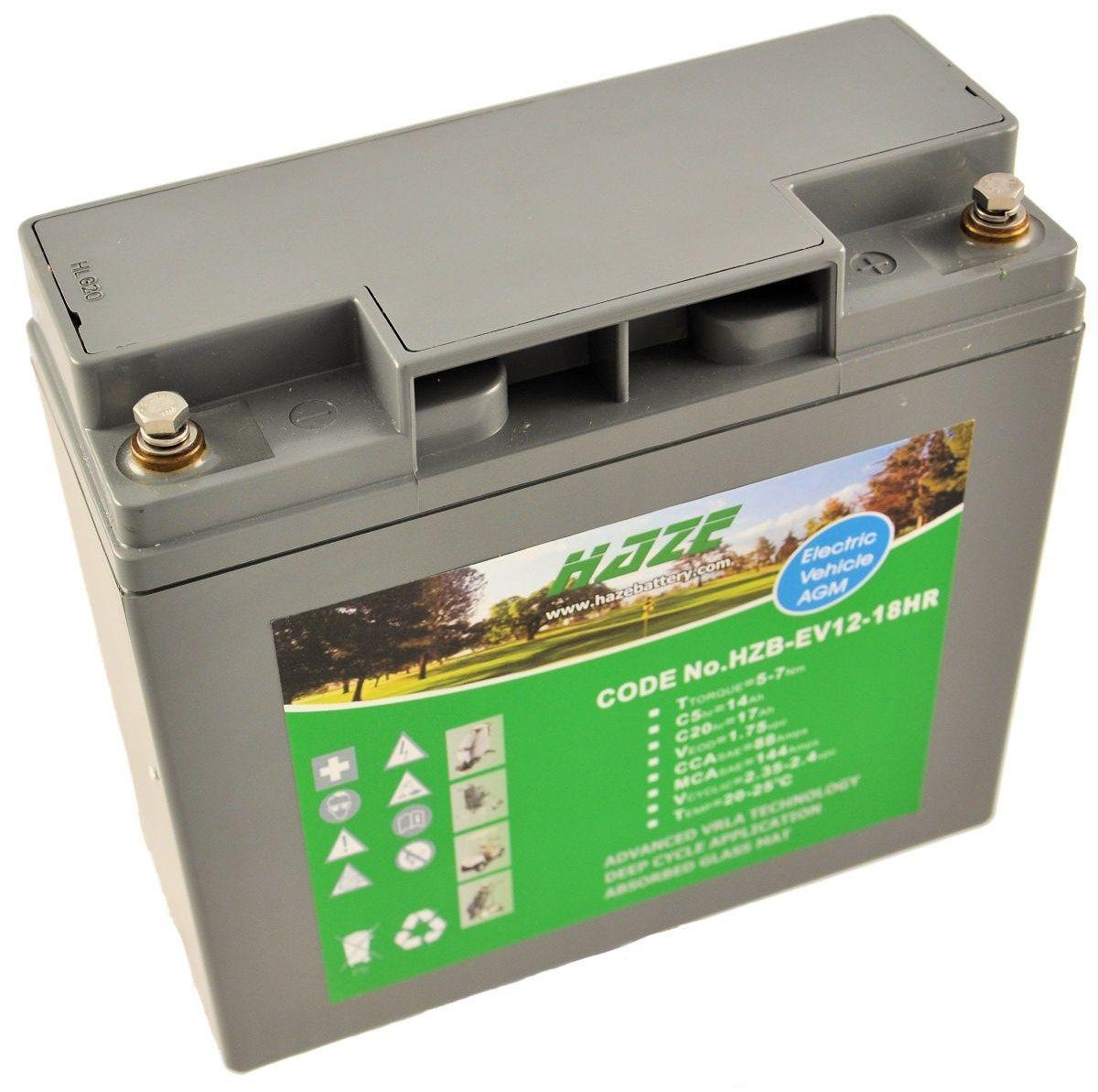 12V 17Ah Haze Sealed Lead Acid (AGM) Mobility Scooter Battery HZB12-18