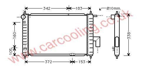 Radiator Daewoo Matiz 96322941