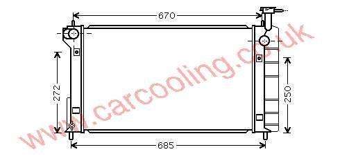 Radiator Toyota Prius 16400-21250