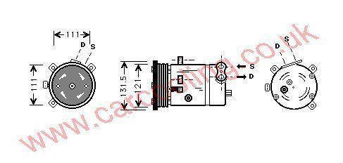 Compressor Chevrolet Leganza    96246405