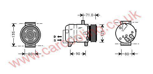 Compressor Renault Megane ll    8200050141