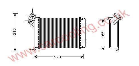 Heater Matrix BMW 3-Series E30 1368875