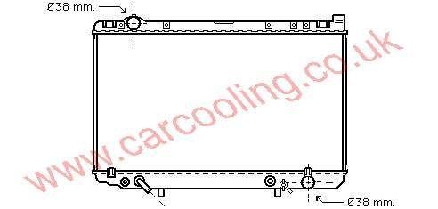 Radiator Lexus LS400    16400-50020