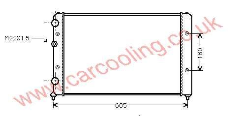 Radiator VW Caddy II 6K0.121.253 AA
