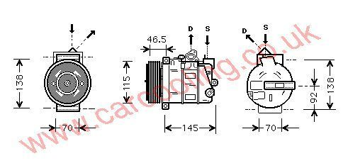 Compressor Merc. S203 C-Class    2309011