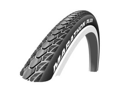 24 x 1 (25-540) Schwalbe Marathon Plus Black Puncture Resistant Wheelchair Tyre