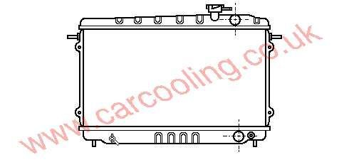Radiator Honda Accord II    19010-PD2-003 / 661