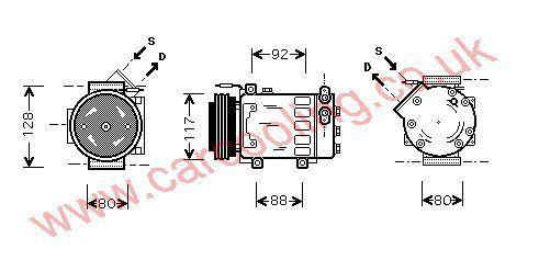 Compressor Renault Kangoo    7700106069