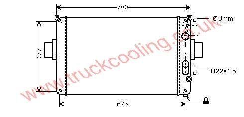 Radiator Iveco Daily II    93822906
