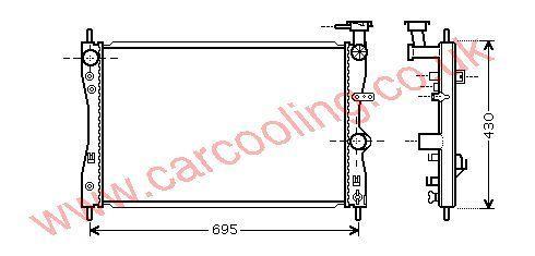Radiator MCC Smart Forfour    MN130393