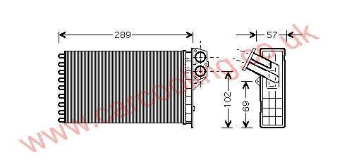Heater Matrix Peugeot 307 6448.K0