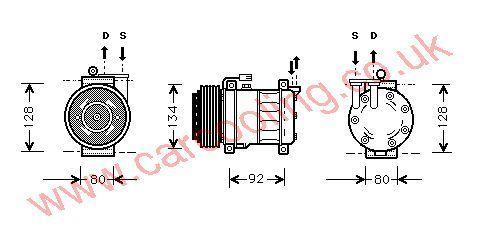 Compressor Fiat Marea    60653652