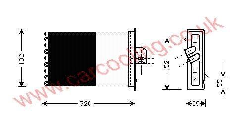 Heater Matrix Chrysler Voyager IV    4885003