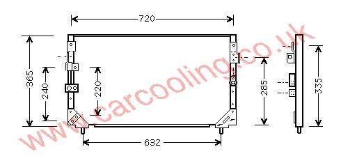 Condenser Lexus LX450 88460-60160