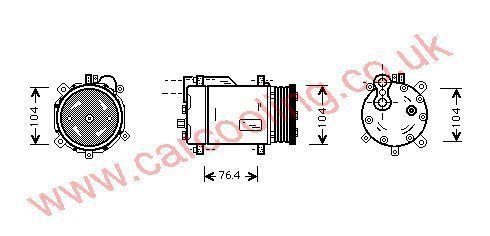 Compressor VW Polo III b    6N0820803
