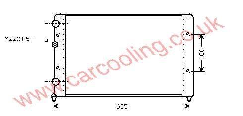Radiator Seat Cordoba I    6K0.121.253 L