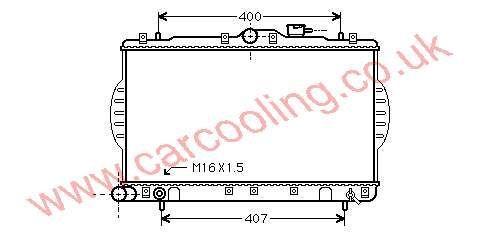 Radiator Hyundai Pony IV    25310-22000 / 22005