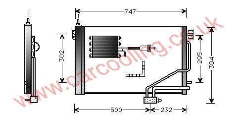 Condenser Merc. W203 C-Class    203.500.0254 / 0654 /